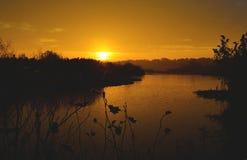 Salida del sol encantadora Foto de archivo