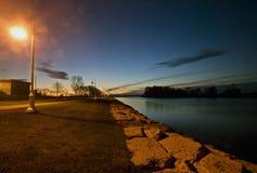 Salida del sol Escanaba Michigan Fotografía de archivo libre de regalías