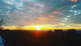 Salida del sol Europa Oriental fotografía de archivo