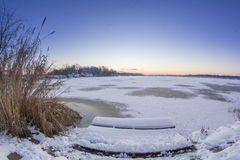 Salida del sol fría Imagen de archivo libre de regalías