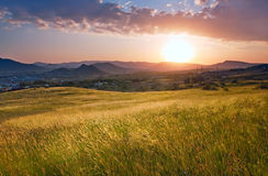Salida del sol fresca Imagenes de archivo