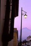 Salida del sol Guatemala de Antigua Imagen de archivo