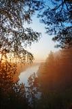 Salida del sol hermosa Fotos de archivo