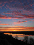 Salida del sol hermosa Imagen de archivo