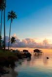 Salida del sol hermosa de la madrugada Imagen de archivo libre de regalías