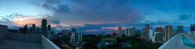 Salida del sol hermosa de Waikiki Fotografía de archivo