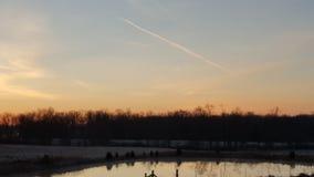 Salida del sol hermosa del país Fotografía de archivo libre de regalías