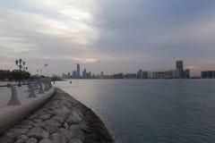 Salida del sol hermosa en Abu Dhabi, United Arab Emirates Fotografía de archivo libre de regalías