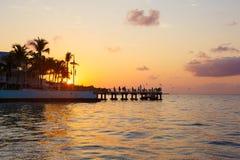 Salida del sol hermosa en Key West, la Florida, los E.E.U.U. imagen de archivo libre de regalías