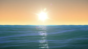 Salida del sol hermosa sobre el mar Lapso de tiempo Tiempo tranquilo HD 1080 libre illustration
