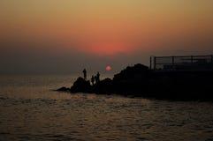 Salida del sol hermosa sobre el Mar Negro imágenes de archivo libres de regalías