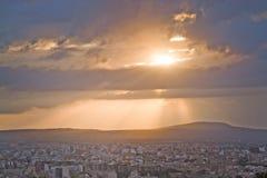 Salida del sol hermosa sobre Palma Fotografía de archivo libre de regalías