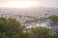 Salida del sol hermosa sobre Palma Imagenes de archivo