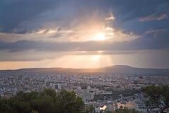 Salida del sol hermosa sobre Palma Fotos de archivo