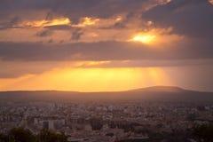 Salida del sol hermosa sobre Palma Imágenes de archivo libres de regalías