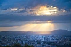 Salida del sol hermosa sobre Palma Imagen de archivo libre de regalías