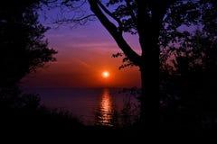 Salida del sol hermosa del verano Imagen de archivo libre de regalías