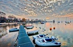 Salida del sol III del puerto deportivo Imagenes de archivo