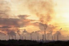 Salida del sol industrial Imagenes de archivo