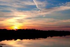Salida del sol intercostera en la Florida Fotos de archivo libres de regalías