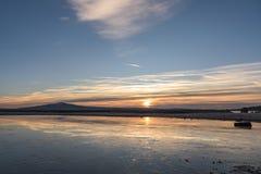 Salida del sol del invierno foto de archivo