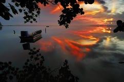 Salida del sol Jubakar Tumpat Fotos de archivo libres de regalías