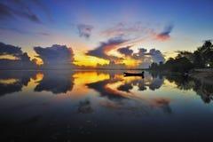 Salida del sol Jubakar Tumpat Imagen de archivo libre de regalías