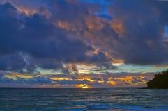 Salida del sol Kauai Hawaii imagen de archivo libre de regalías