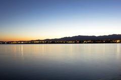 Salida del sol Lake Havasu Fotos de archivo