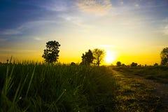 Salida del sol ligera Fotos de archivo