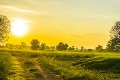 Salida del sol ligera Imagenes de archivo