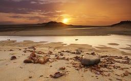 Salida del sol lluviosa Imagen de archivo libre de regalías