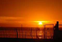 Salida del sol Los Cabos Foto de archivo libre de regalías