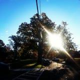 Salida del sol - luz de dioses apenas para usted Fotografía de archivo