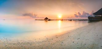 Salida del sol Maldivas Foto de archivo libre de regalías
