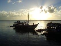 Salida del sol maravillosa Foto de archivo