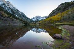 Salida del sol marrón Aspen Colorado de Belces Fotografía de archivo libre de regalías