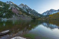 Salida del sol marrón Aspen Colorado de Belces Fotos de archivo libres de regalías