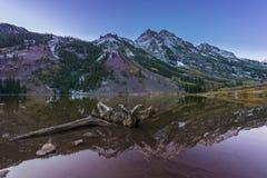 Salida del sol marrón Aspen Colorado de Belces Foto de archivo libre de regalías