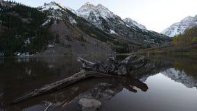 Salida del sol marrón Aspen Colorado de Belces metrajes