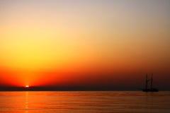 Salida del sol mediterránea Fotos de archivo libres de regalías