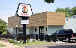 Salida del sol Memphis Cafe Memphis, TN Imagenes de archivo