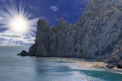 Salida del sol n en montañas fotografía de archivo libre de regalías