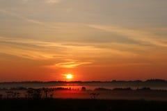 Salida del sol Naturaleza Rusia Imagen de archivo