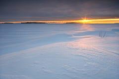 Salida del sol nublada Fotos de archivo