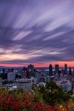 Salida del sol nublada de la caída Imagen de archivo libre de regalías