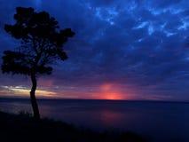 Salida del sol nublada hermosa Fotografía de archivo libre de regalías
