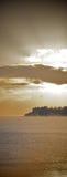 Salida del sol o puesta del sol Foto de archivo libre de regalías