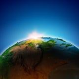 Salida del sol o puesta del sol fotos de archivo libres de regalías