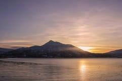 salida del sol o puesta del sol Imagen de archivo libre de regalías